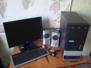Компьютер Athlon II X2 2, 8Ггц. мониор,  колонки,  мультиклавиатура,  мышь