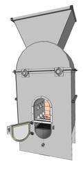 Установка для переработки бурого,  каменного углей в синтез-газ.