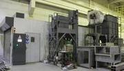 Бу дробеметная установка  для очистки  металла и труб