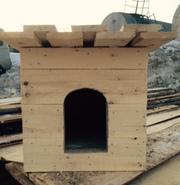 Деревянные будки,  конуры,  вольеры для собак