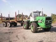 Трактор Т-150К с телегой